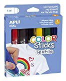 APLI Kids 17539 - Color Sticks Tessile 6 g