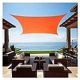 Wasserdicht Sonnensegel Sonnenschutz, Rechteckig Garten-Patio-Party-Sonnenschutz-Markisendach Im Freien Orange Und Gelb Für...
