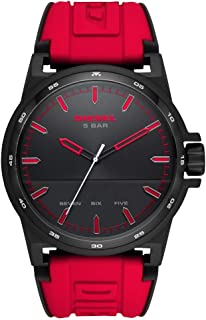 Diesel D-48 Men's Black Dial Silicone Analog Watch - DZ1911