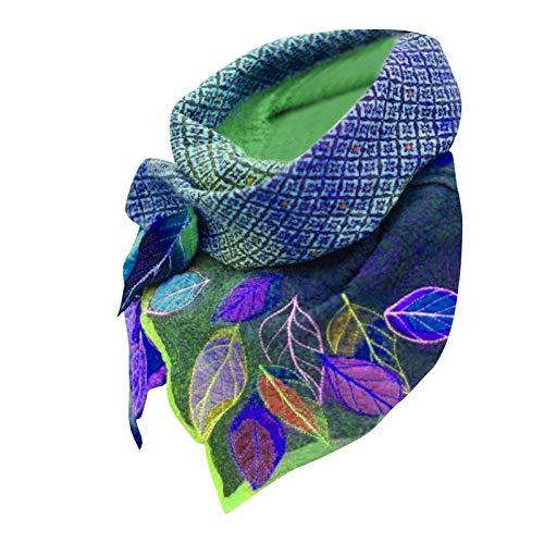 lbert Halstuch Musselintuch fur Männer Frauen, Damenhalstuch Dreieckstuch Schal perfekt wendbar mit Verschluss, personalisiert Handmade Schal für Frauen