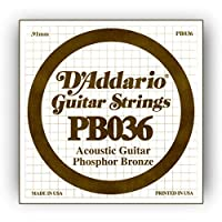 D'Addario ダダリオ アコースティックギター用バラ弦 フォスファーブロンズ .036 PB036 【国内正規品】