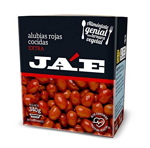 Ja'E Legumbres En Conserva, Alubias Rojas Cocidas, Sin Conservantes, Tetra Pak 340 Gramos Caja X8, 2880 g