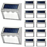 Outdoor Fence Lights,12 Pack Solar Powered Deck...