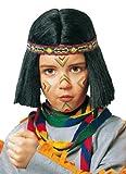 Karneval Kinder Perücke Indianer Zubehör zum Krieger Kostüm Fasching