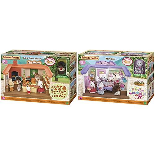 Sylvanian Families 5237 Panadería + Boutique Mini Muñecas Y Accesorios, Multicolor (Epoch para Imaginar 5234) , Color/Modelo Surtido