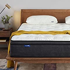 Motion isolation for a peaceful undisturbed sleep- sweet night 12 inch Queen mattress constructed with 775 coils individually wrapped innerspring and Gel Memory Foam for ultimate support, pressure relief helps those with back pain, tossing & turning....