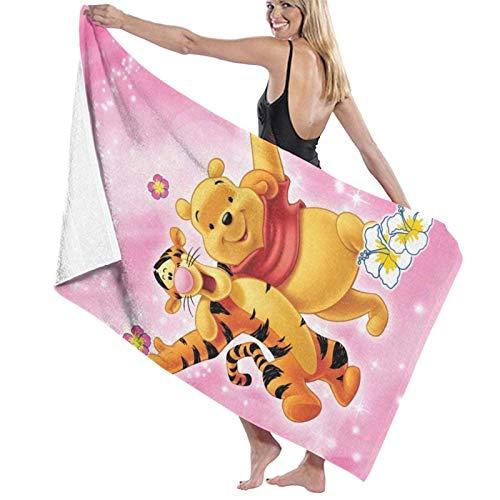 chenguang4422 Winnie Puuh Bär Tigger Badetücher, groß, weich, saugfähig, für...