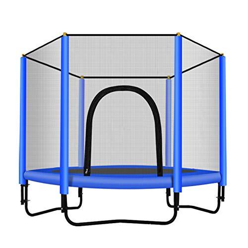 Trampoline met veiligheidsnet - Trampolines voor kinderen - Maximaal gewicht: 100 kg - Fitness-trampoline, trampoline voor binnen en in de tuin, ideaal voor kinderen en volwassenen,Blue