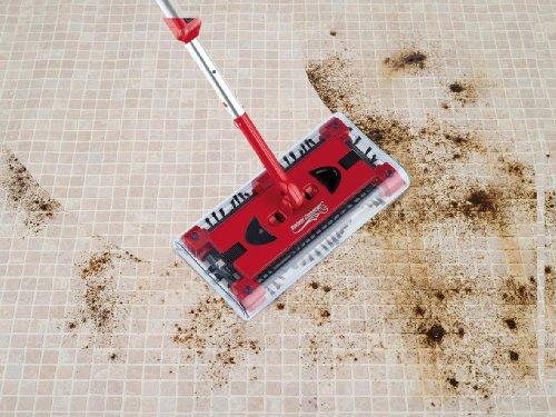 CLEANmaxx 07146 Swivel Sweeper G2 mit Ellenbogengelenk| Bodenkehrer | Akkubesen | Rot - 4