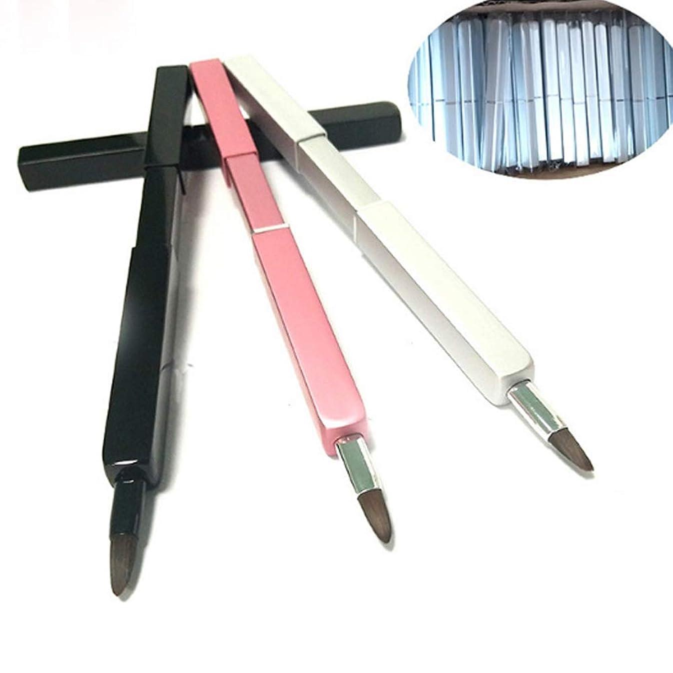 高架意外平衡Cangad リップブラシ 化粧筆 伸縮可能 持ち運び便利 メリハリの立体的な唇に スライド式 携帯用 (3色オプション)
