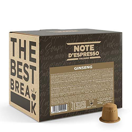 Note D'Espresso, Ginseng, Capsule Compatibili con Sistema sistema NESPRESSO*, 100 caps X 4.3g