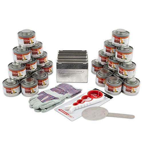 New & Improved! Emergency Cooking Fuel Storage Set with Stove, 20+ Year Shelf Life. 24 Fuel Can Pack