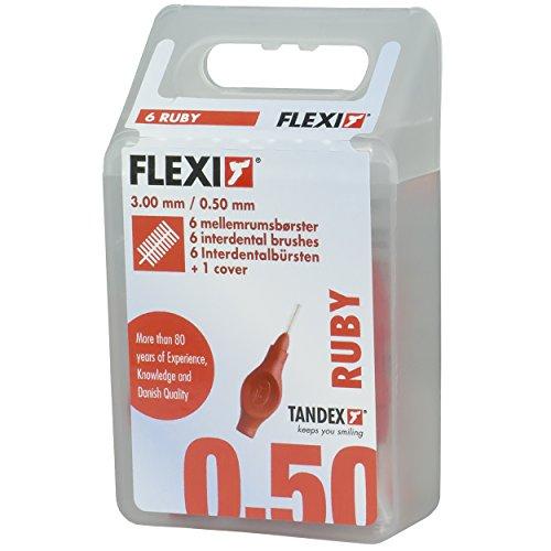 Tandex Flexi Interdentalbürsten rot superfine, 6 Stück
