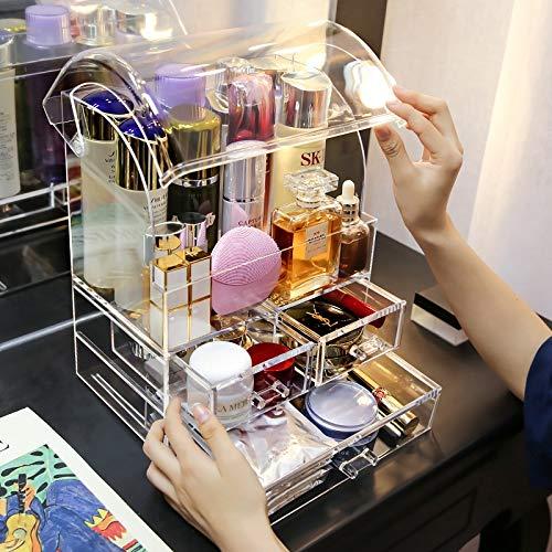 Kosmetische Aufbewahrungsbox Schubladen-Lippenstift Make-up Organizer Kosmetik-Aufbewahrungsregal Fashion Helf Display Stand High Capacit