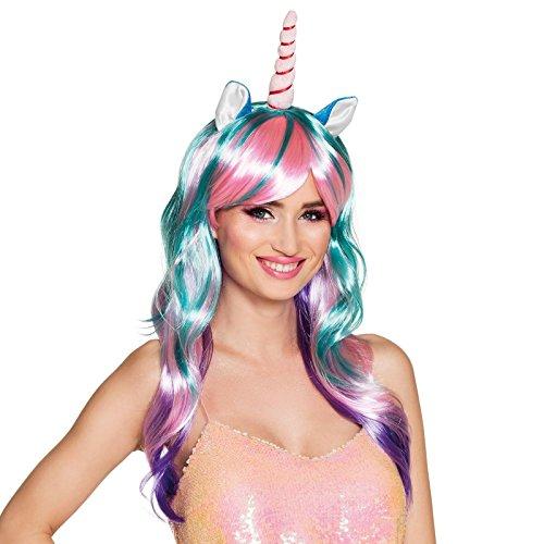 Deluxe Rainbow Unicorn Wig for Women