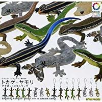 カプセル ネイチャーテクニカラーMONO トカゲ・ヤモリ マグネット×ストラップ ストラップver.のみ7種(捕食抜き)