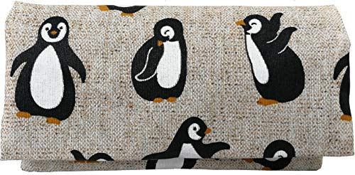 Plan B Pitillera Tabaco de Liar Yolo Pingüino 16 x 8,5 cm, 50 g, con Bolsa Interior Goma Eva Beig Estampada