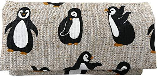 Plan B, Portasigarette Tabacco Trinciato, Yolo Pinguino, 16 x 8,5 cm, 50 gr, con Borsa in Gomma EVA, Beige con Stampa