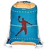 HECKBO sac de gym garçons & filles handball - lavable en machine - 40x32cm – pour la maternelle, l'école, la crèche , le voyage, le sport - sac à dos, sac, sac de jeu, sac de sport, sac de handball