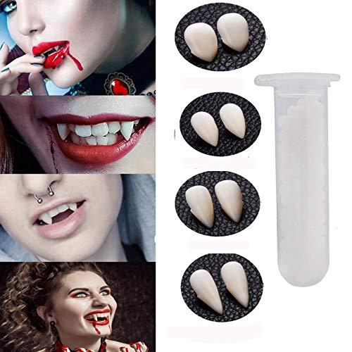 UKKUER Vampire Teeth with Adhesive Glue