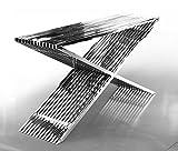 ACERO inox. Aparador Bauhaus Largo 152cm x profundidad 40 cm