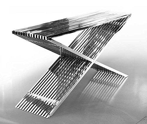 NEUERRAUM Edelstahl Sideboard Bauhaus Länge 152 cm x Tiefe 40 cm x Höhe 76 cm / 46 kg. Mit Acryl Distanzstücken. Sehr Edel! Passender Hocker, Couchtisch und Sitzbank in Edelstahl lieferbar.