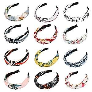 BUYGOO 12 Estilos Diademas Turbantes para Mujeres Niñas Señoras Turbante Estampados Florales Diademas con Twist Knot… | DeHippies.com