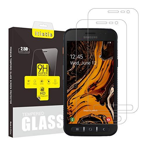 iTieTie 2 Stück Panzerglas Schutzfolie für Xcover 4s, Nicht für Xcover 4, Blasenfreie, Hochauflösend, 9H Festigkeit, Premium gehärtetes Glas Bildschirmschutzfolie für Samsung Galaxy Xcover 4s