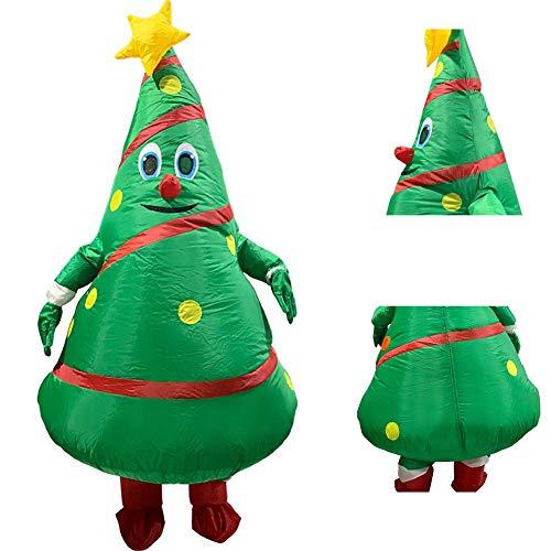 ANNIUP Aufblasbare Kleidung Riesiger Weihnachtsbaum, aufblasbarer Ganzkörperanzug Kostüm für Erwachsene, Party-Spielzeug für Weihnachten, Weihnachtsbaum, Cartoon-Requisiten