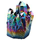 Titanium rainbow quartz cluster
