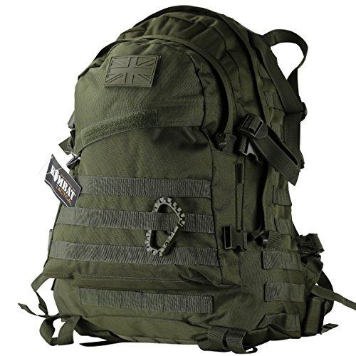 Kombat UK Sac à Dos Spec-Ops (Forces d'opérations spéciales), Mixte, Spec-Ops, Vert Olive, 45 l