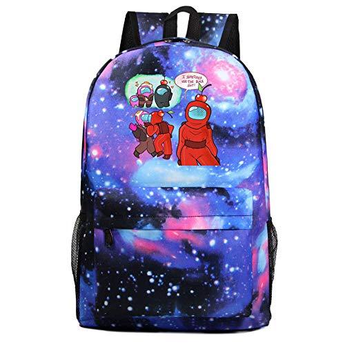 Among us Galaxy Estudiante Adolescente Juego Fan Regalo Casual Viaje Hombro Mochila Bolso de niños Muchacho niña 18 Colores-Color3