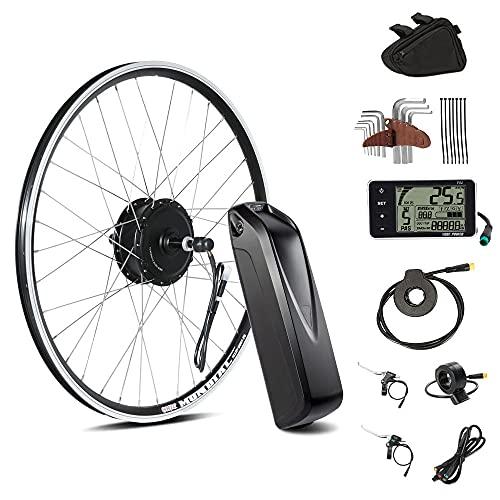 SEASON 36V 350W 26 Pouces E-Bike Conversion Kit de Roue Arrière Roue Libre avec 36V 12,5AH Lithiun-ION Batterie pour Vélo Electrique