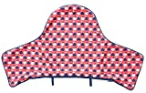 IKEA Antilop - Funda de cojín para trona, color rojo y azul (sólo cubierta)