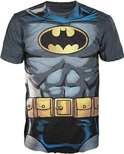 DC disfraz infantil de cmic de Batman con logotipo de Billabong de carbn vegetal activo para mayores de T-camiseta de manga corta camiseta para hombre