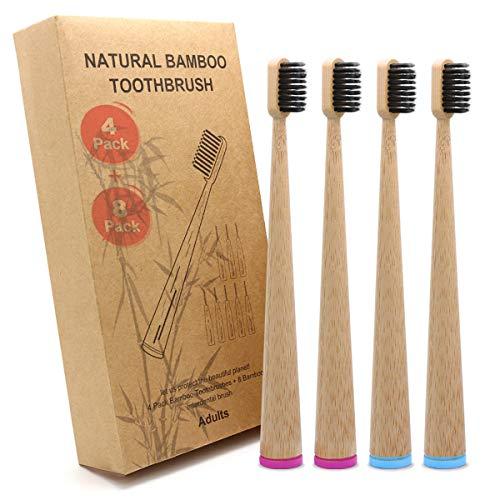 Cepillos De Dientes De Bambú Cerdas Naturales Marca DTNO.I