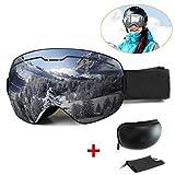 Gafas de Esquiar Máscara Gafas Esqui Snowboard Nieve Espejo para Hombre Mujer Anti Niebla Gafas de Esquiar OTG Protección UV Magnéticos Esférica Lentes