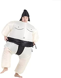 Anself Funny Sumo Inflatable Costume Halloween Party Cosplay Fat Inflatable Wrestler Suit, Adult