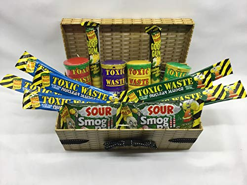 Toxic Waste Mega Sour Retro Sweet Hamper - Super Sour Sweets Gift Box …