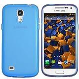 mumbi Hülle kompatibel mit Samsung Galaxy S4 Mini Handy Hülle Handyhülle, transparent blau