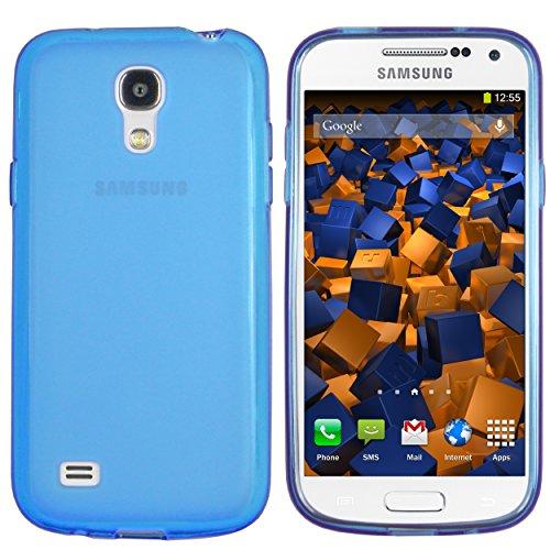 mumbi Hülle kompatibel mit Samsung Galaxy S4 Mini Handy Case Handyhülle, transparent blau