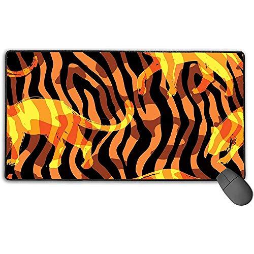 Grote muismat, Lion Silhouette Design Extended Gaming Mouse Pad Mat Desk Pad Anti-lip Rubber Mousepad 40x75 cm