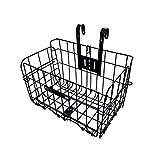 Tfwadmx Folding Bike Front Basket, Bike Wire Basket with...
