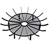 Aoodor Outdoor Fire Pit Grate Log Round 28' Kindling Tools Round Spider Wire Net Support Base Firewood Grates Complimentary Tongs Black Color - Garden Use
