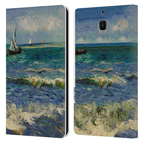 Officiële Masters Collection Zeegezicht in de buurt van Les Sainte Marie Schilderijen 2 Lederen Book Portemonnee Cover Compatibel voor Samsung Galaxy Tab A 8.0 2018