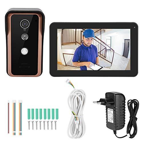9 inch draadloze WIFI video deurtelefoon IP deurbel intercom toegangssysteem met 1x1000TVL bedrade camera nachtzicht, ondersteuning voor ontgrendeling op afstand, snapshot (EU)