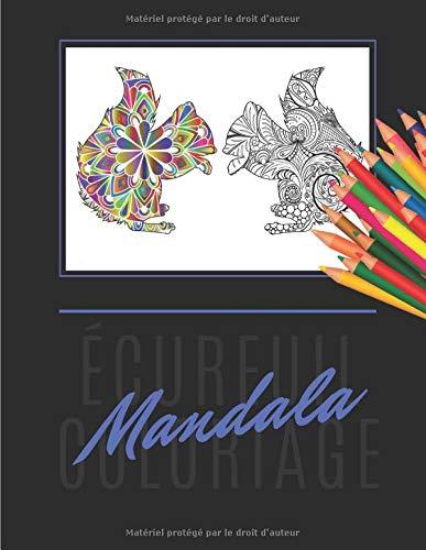 écureuil coloriage mandala: Livre de coloriage écureuil Mandala   Coloriage anti-stress   Collection d'écureuils Mandalas avec 17 Mandalas  bonus à colorier  75 pages