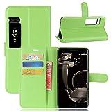 Funda® Flip Wallet Case for Meizu PRO 7 Plus (Green)