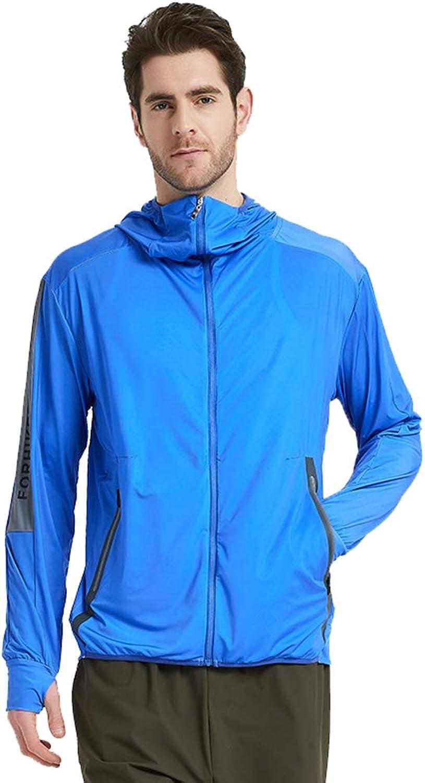 EP-Fishing Suit Ice Silk erfrischende Anglerjacke, ultraleichte, atmungsaktive und schnell trocknende Anti-Moskito-Sonnenschutzkleidung, Sommer-Outdoor-Spezial,Blau,XL