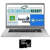 2020 Samsung Chromebook 15.6 Inch Laptop| FHD 1080P Display| Intel Celeron N4000 up to 2.6 GHz| 4GB RAM| 128GB eMMC| Bluetooth| Chrome OS + NexiGo 32GB MicroSD Card Bundle